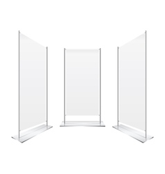 perspective Blank roll up banner display vector image