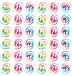 retro seamless circles vector image