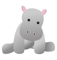 Baby Hippo Toy vector image
