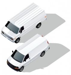 delivery van isometric vector image vector image