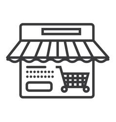 online shop line icon sign vector image