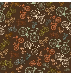 seamless colorful retro vintage bicycle vector image