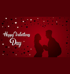 valentine day background with couple in love vector image vector image