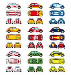 VW Beetle cars vector image vector image