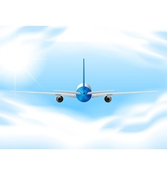 Airplane flying in the sky vector image vector image