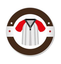 Baseball sport shirt uniform emblem icon vector