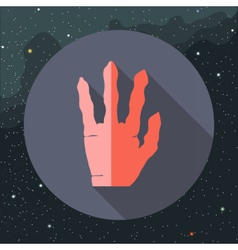 Digital with red alien hand vector image vector image
