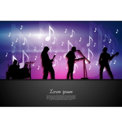 Music rock party abstract background vector image