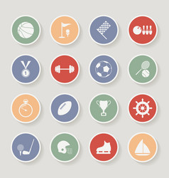Round sports icons vector