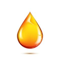 Beautiful drop of oil vector image