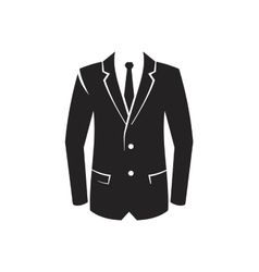 black Suit Icon vector image