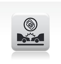 car crash icon vector image