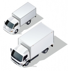 delivery truck set vector image vector image