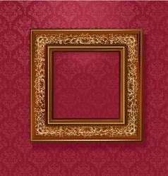 vintage wallpaper frame vector image vector image