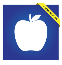 Apple icon for web and mobile vector