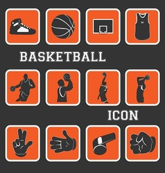 Basketball pictogram vector