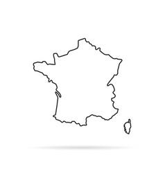 black outline hand drawn map france vector image