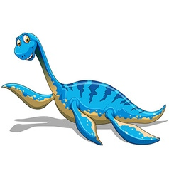 Blue dinosaur with long neck vector image
