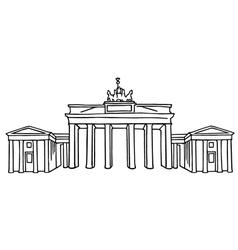 Brandenburg Gate in Berlin vector