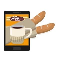 Breakfast food delivery online vector