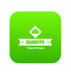 burrito icon green vector image