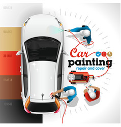 car painting station vector image