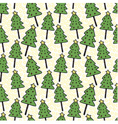 christmas trees seamless pattern wrapping new vector image