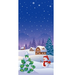 Christmas vertical banner vector image