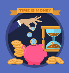 Concept for saving time and money vector