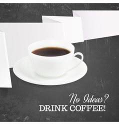 cup hot coffee vector image