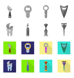 Design equipment and bar icon set of vector