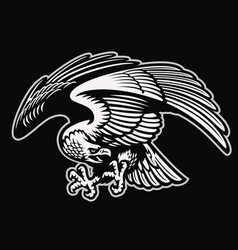 Detailed style eagle mascot vector