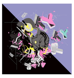 Dj party music vector