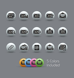 E mail Icons Pearly Series vector