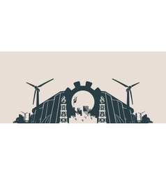 Energy and Power icons set Header banner vector