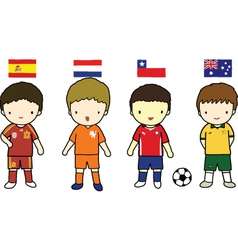 FIFA 2014 Football Players Group B vector image