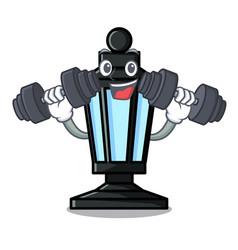 fitness street lamp character cartoon vector image