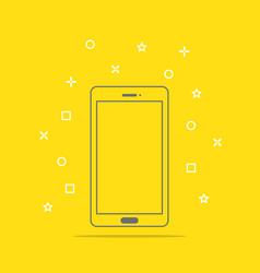 flat style icon of phone vector image
