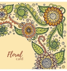 Floral card template corporate identity vector image