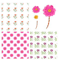 Floral pattern in style vector