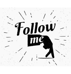 Follow me vector
