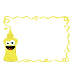 Funny Mustard Frame vector image