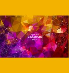 Geometric colorful polygonal background molecule vector