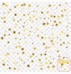 gold confetti gold stars on white background vector image