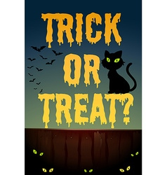 Halloween theme with black cat vector