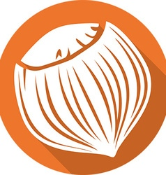Hazelnut Icon vector image