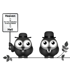 Heaven or Hell destination vector