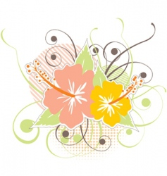 hibiscus design vector image