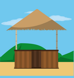 Hut and summer design vector
