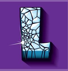 Ice font -letter l vector
